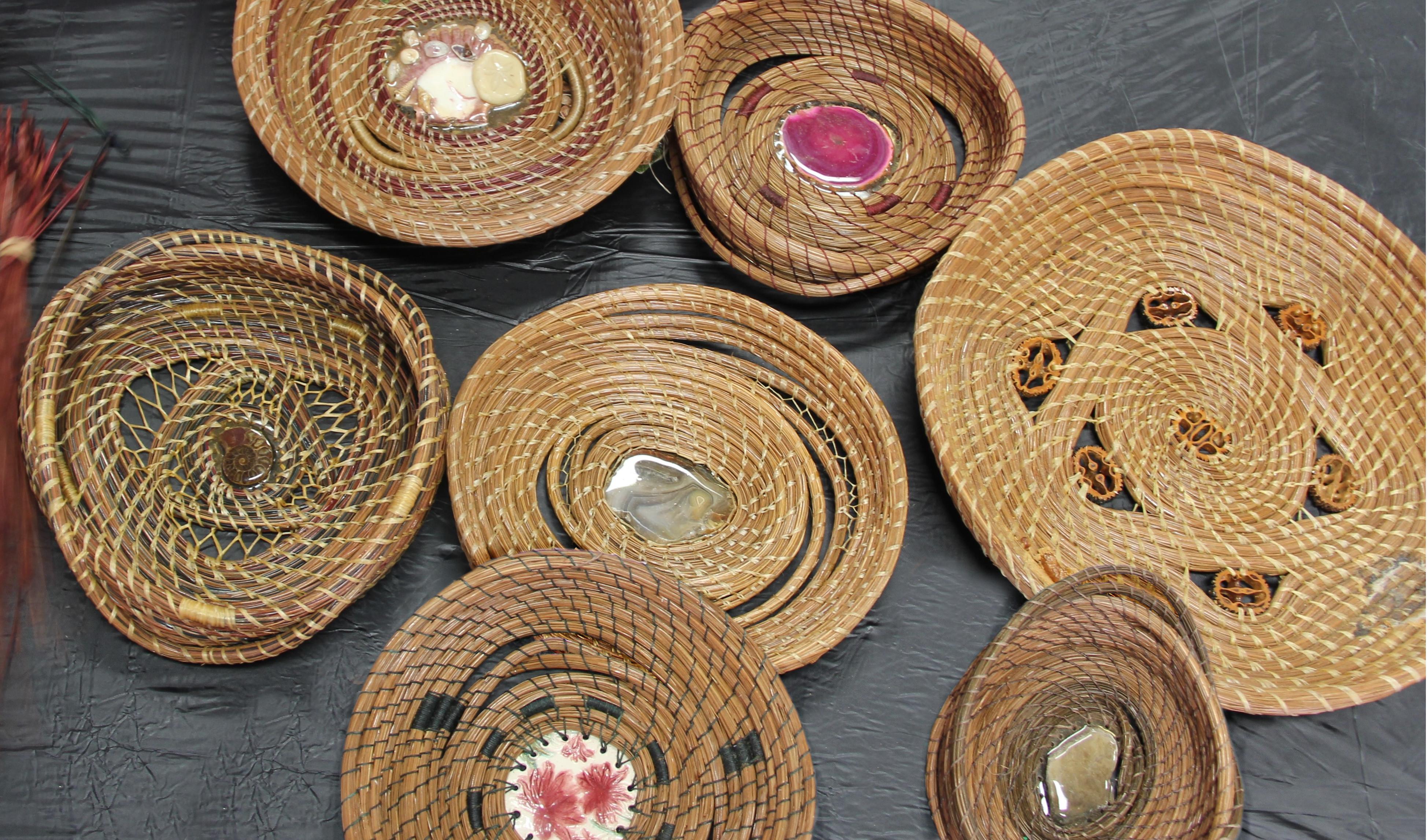 pine needle baskets image